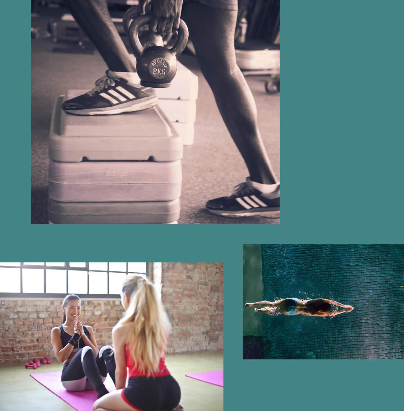 Schwimmbad und Fitness